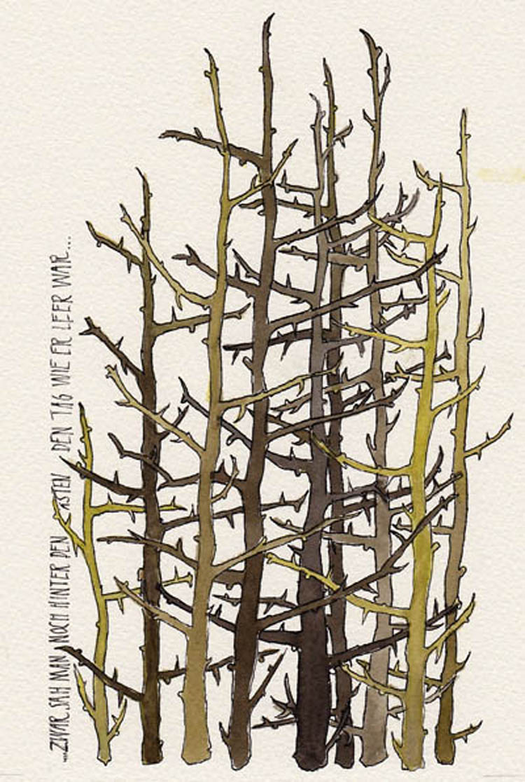 "Illustration zu R. M. Rilke ""Aus einem April"""